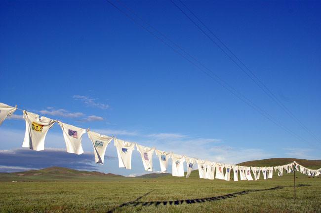 モンゴルの草原にて