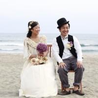 砂浜結婚式