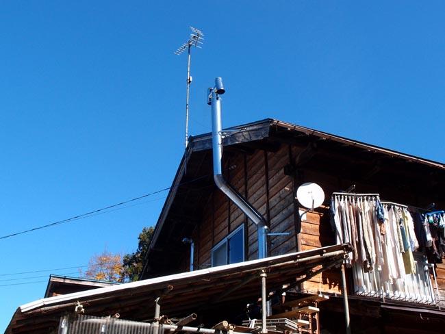 薪ストーブ煙突2