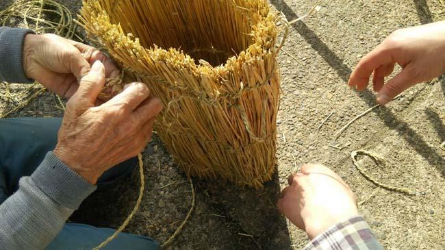 編み込んだ縄