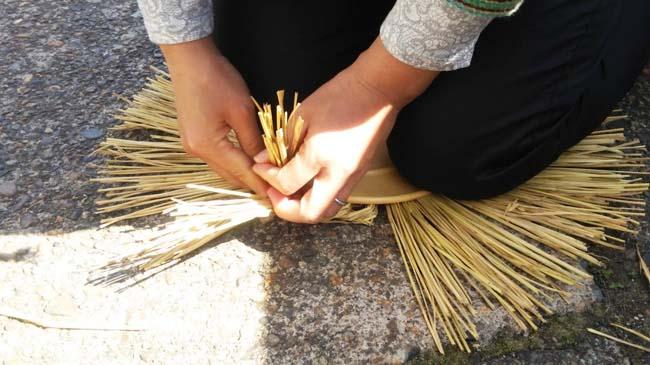 織り込む 米俵づくり