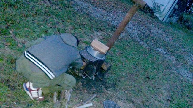 薪を井形を組む