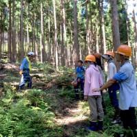 自伐型林業体験ツアー