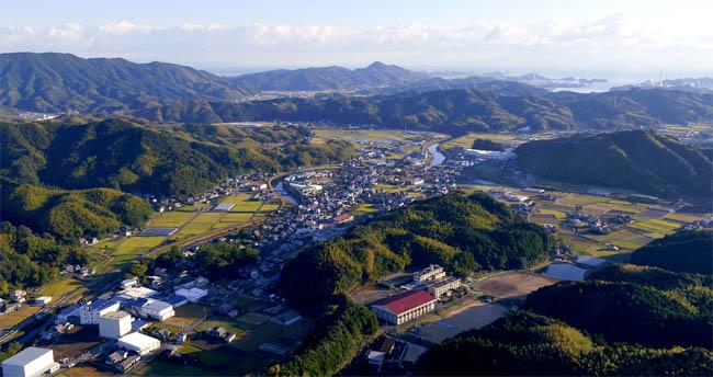 徳島県阿南市新野町上空