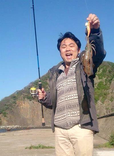 午後は釣り