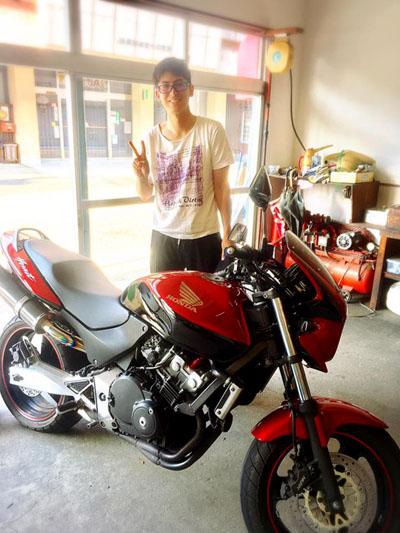 ライダーさんとバイク