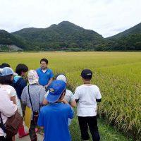 子供達にヤマネコとお米の関係を教えている様子