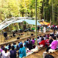 竹林コンサートの様子