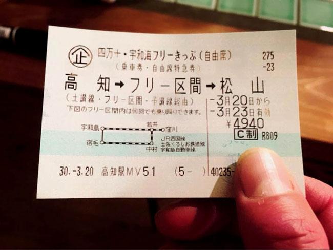 四万十・宇和海フリーきっぷ