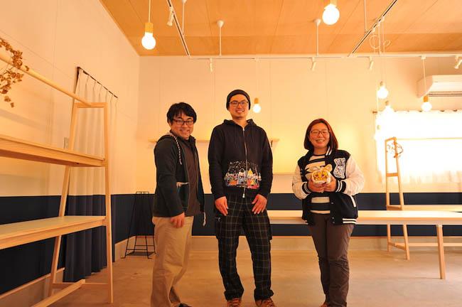 家具の配置完成時にkiiroさんと記念撮影!