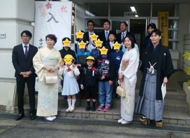 地域密着の小さな小学校の入学式