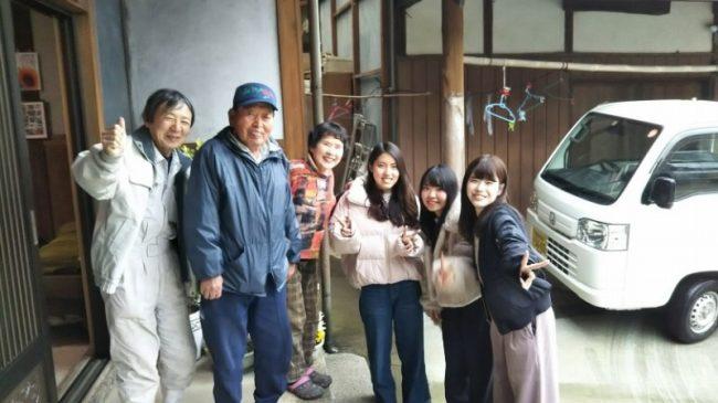 東京の大学生の農業体験を受入れてくれた、学生たちの心の支え。