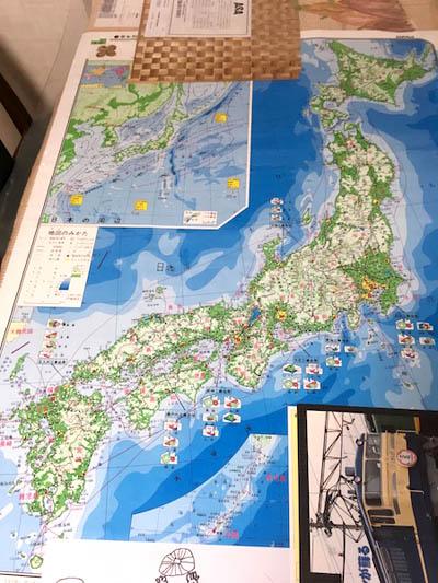 日本地図で交流トーク