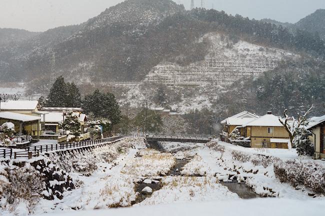 佐賀の雪景色