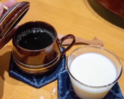 手作りプリンとコーヒー