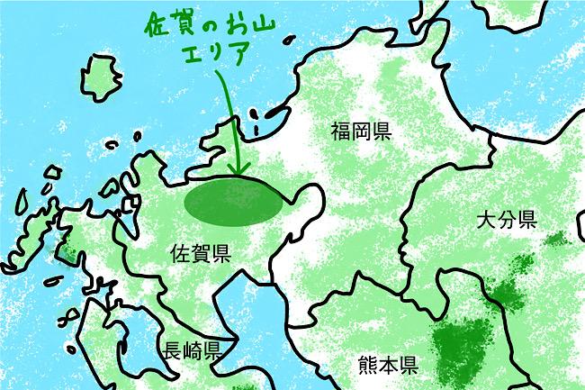 佐賀のお山はこの辺り