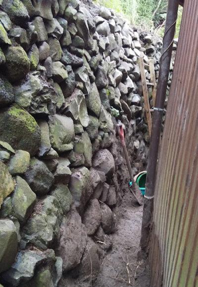石垣の修繕後